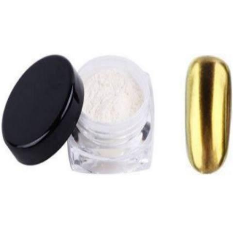 Polvere effetto specchio mirror sirena colore oro nails deluxe milano - Polvere effetto specchio unghie ...